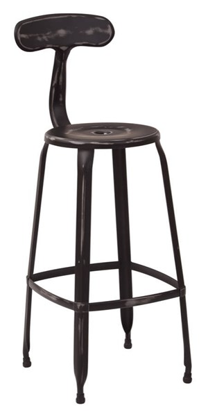 4 Lexington 30 Inch Black Metal Supportive Back & Footrest Barstools OSP-LXT3230A4-AB
