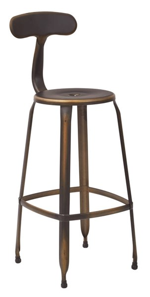4 Lexington 30 Inch Antique Copper Metal Back & Footrest Barstools OSP-LXT3230A4-AC