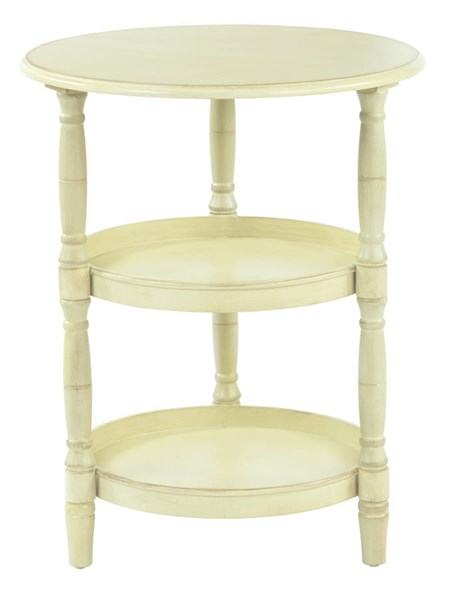 Lynwood Transitional Antique Celadon Solid Wood MDF Round Accent Table OSP-LYN9594-YM20