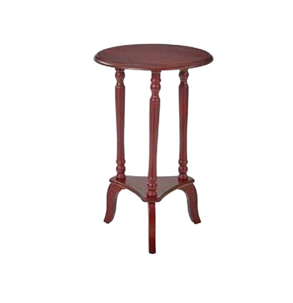 Marion Vintage Wine Wood Round Accent Table OSP-MAR10-AC12