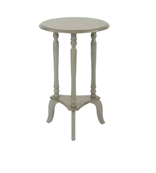 Marion Antique Grey Wood Round Accent Table OSP-MAR10-YM19