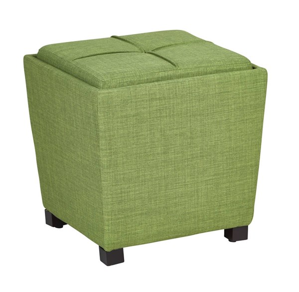Metro Modern Milford Grass Fabric Wood Tray Top 2pc Ottoman Set OSP-MET361-M42