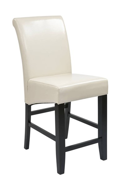 Metro Cream Bonded Leather Wood 24 Inch Parsons Barstool OSP-MET8624CM