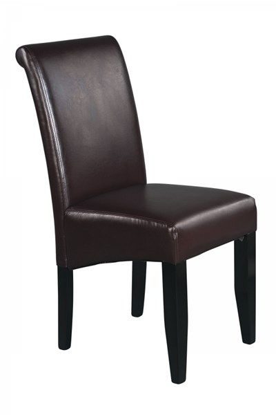 Metro Contemporary Espresso Wood Bonded Leather Parsons Chair OSP-MET86ES