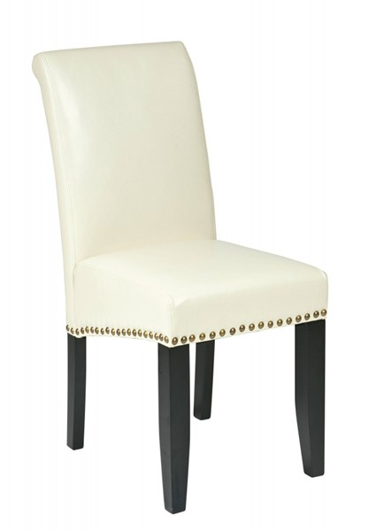Metro Contemporary Cream Bonded Leather Nailhead Parsons Chair OSP-MET87CM