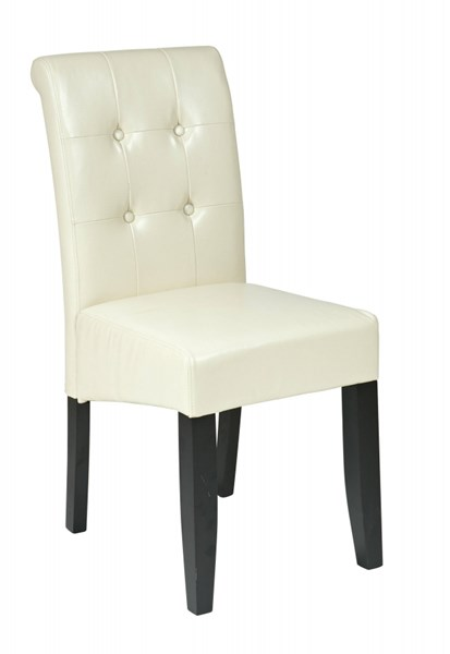 Metro Contemporary Cream Bonded Leather Tufted Back  Parsons Chair OSP-MET88CM