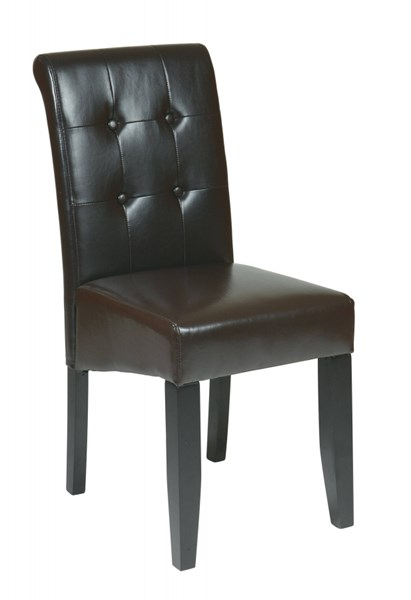 Metro Contemporary Espresso Bonded Leather Tufted Back Parsons Chair OSP-MET88ES