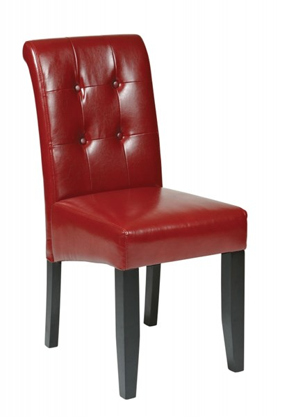 Metro Contemporary Crimson Red Bonded Leather Tufted Parsons Chair OSP-MET88RD