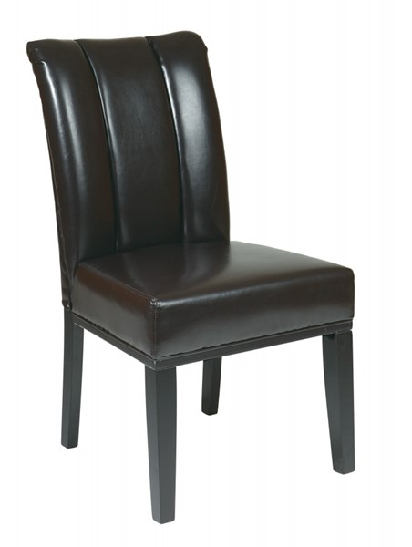 Metro Contemporary Espresso Bonded Leather Wood Parsons Chair OSP-MET89ES