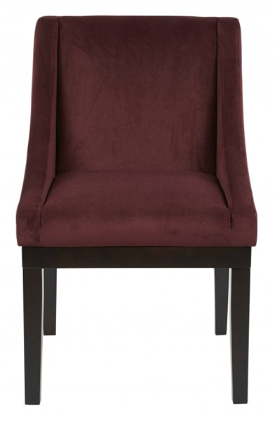 Monarch Contemporary Port Velvet Solid Back Cushion Chair OSP-MNA-P19
