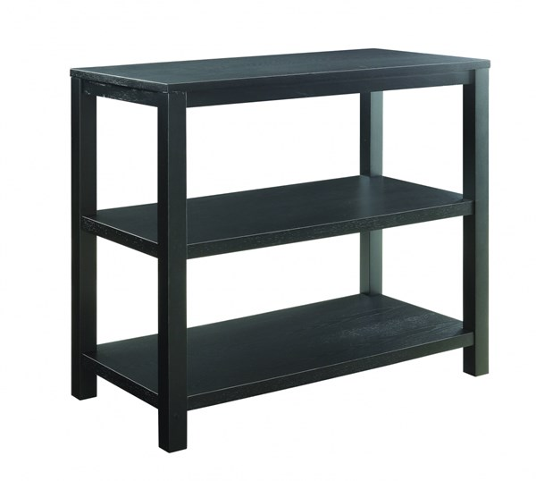 Merge Contemporary Black Solid Wood Rectangle Foyer Table OSP-MRG07R1-BK
