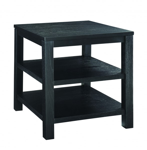 Merge Contemporary Black Wood 20 Inch Square End Table OSP-MRG09S-BK