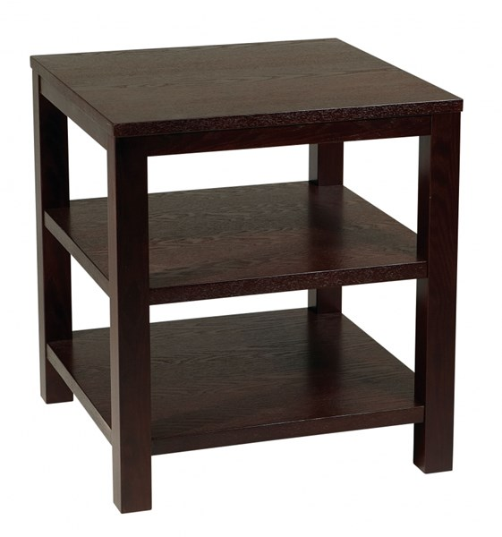 Merge Contemporary Espresso Wood 20 Inch Square End Table