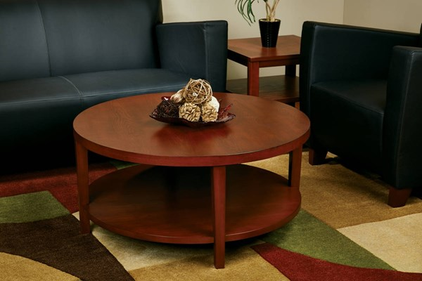 Merge Transitional Cherry Solid Wood MDF 3pc Coffee Table OSP-MRG09S-12-CHY