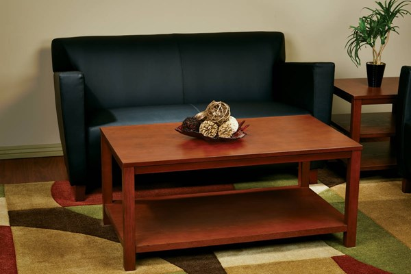 Merge Transitional Cherry Solid Wood MDF 3pc Rectangle Coffee Table OSP-MRG12R-09S-CHY