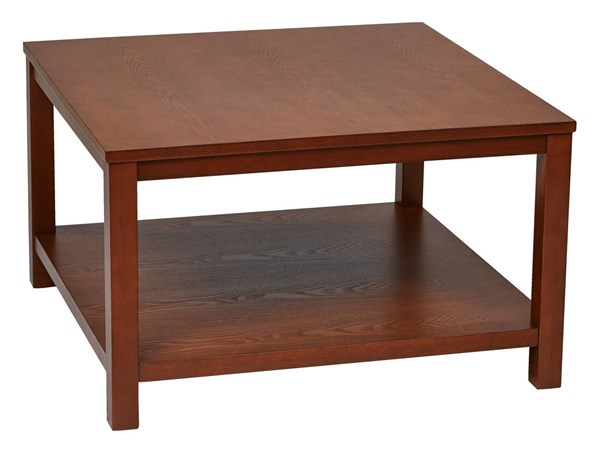 Merge Transitional Cherry Solid Wood MDF 30 Inch Square Coffee Table OSP-MRG12SR1-CHY