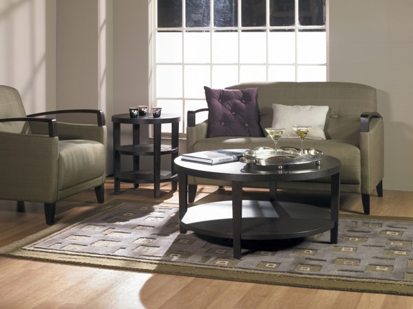 Merge Contemporary Espresso Wood 3pc Round Coffee Table Set OSP-MRG09-12