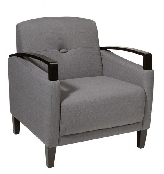 Main Street Contemporary Charcoal Fabric Chair OSP-MST51-W12