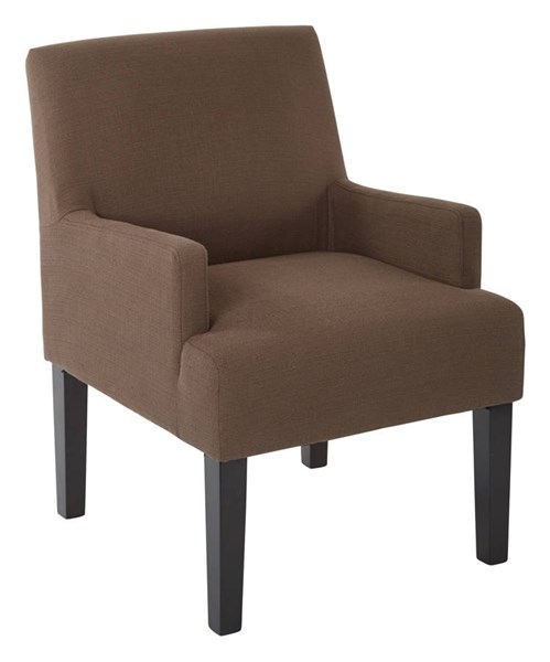 Main Street Contemporary Chocolate Woven Fabric Solid Wood Guest Chair OSP-MST55-W11