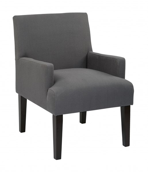Main Street Charcoal Woven Cushion Back & Arms Guest Chair OSP-MST55-W12