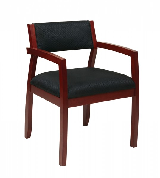 Napa Contemporary Black Cherry Bonded Leather Guest Chairs OSP-NAP95-CH-VAR