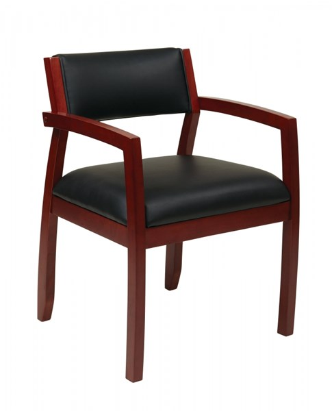 Napa Contemporary Black Cherry Upholstered Seat Guest Chair OSP-NAP95CHY-EC3