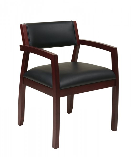 Napa Contemporary Black  Mahogany Upholstered Seat Guest Chair OSP-NAP95MAH-EC3