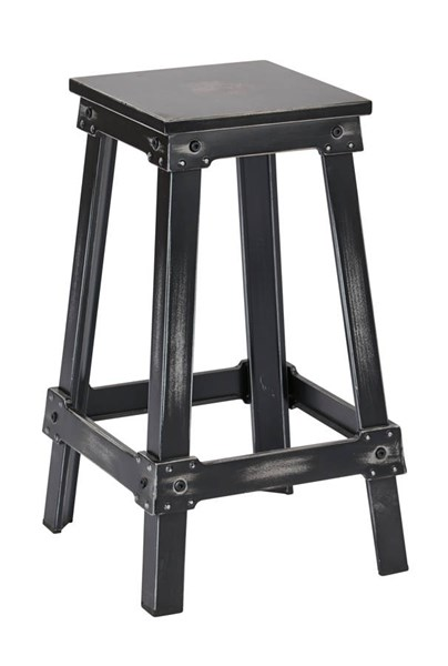 New Castle Traditional Antique Black Metal 26 Inch Barstool OSP-NCL3126-AB