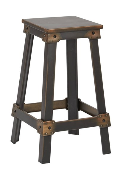 New Castle Traditional Antique Copper Metal 26 Inch Barstool OSP-NCL3126-AC