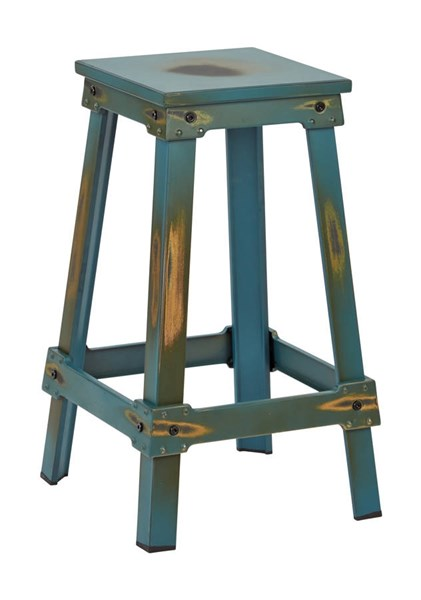 New Castle Traditional Antique Turquoise Metal 26 Inch Barstool OSP-NCL3126-ATQ