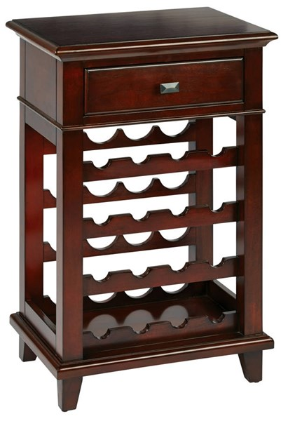 Napa Traditional Cherry Wood Storage Wine Rack OSP-NPA37AS-CHY