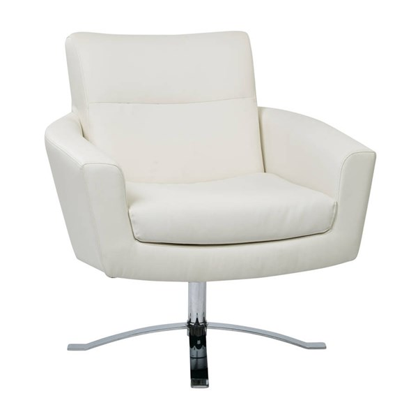 Nova Contemporary White Faux Leather Chrome Base Chair OSP-NVA51-W32