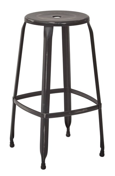 2 Newark Modern Metal Antique Black Fully Assembled 30 Inch Barstools OSP-NWK3030A2-AB
