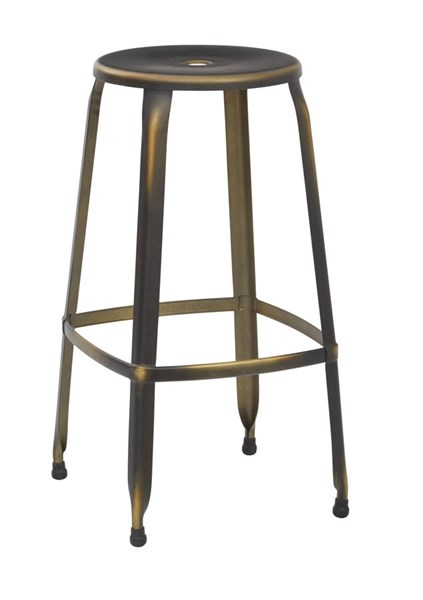 2 Newark Modern Metal Antique Copper Fully Assembled 30 Inch Barstools OSP-NWK3030A2-AC