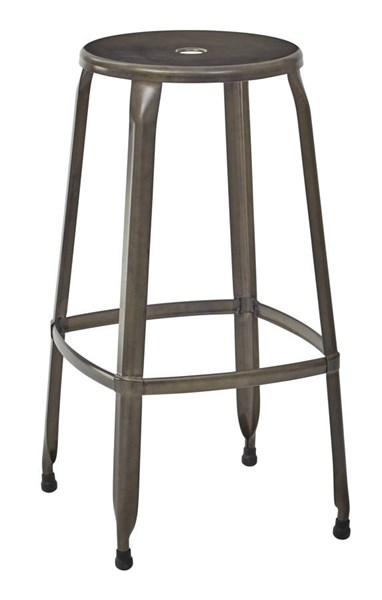 4 Newark Metal Antique Gunmetal Fully Assembled 30 Inch Barstools OSP-NWK3030A4-C209-1