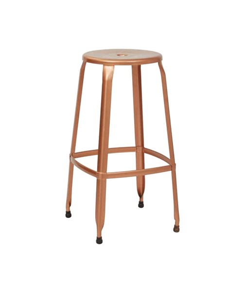 2 Newark Modern Metal Copper Fully Assembled 30 Inch Barstools OSP-NWK3030A2-CP
