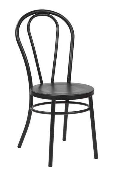 2 Odessa Traditional Solid Black Metal Backrest Dining Chairs OSP-OD2918A2-3