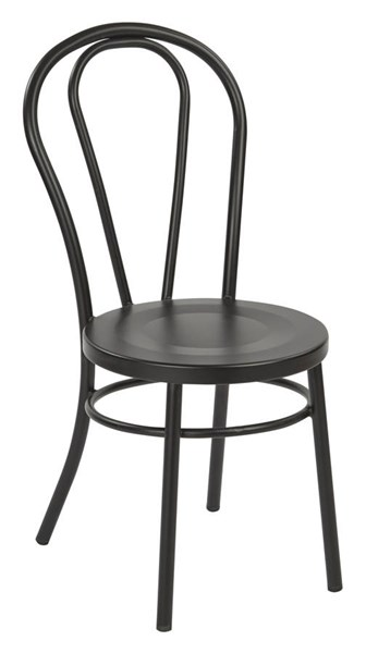 2 Odessa Traditional Frosted Black Metal Backrest Dining Chairs OSP-OD2918A2-C230