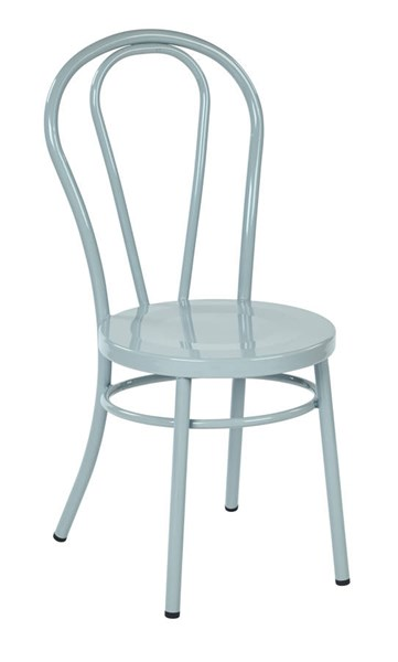 2 Odessa Traditional Pastel Quarry Metal Backrest Dining Chairs OSP-OD2918A2-P704