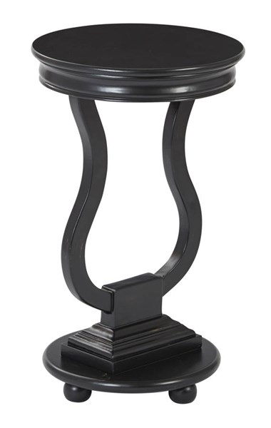 Chase Brushed Black Assembled Round Accent Table OSP-OP-CHAS1-AC11