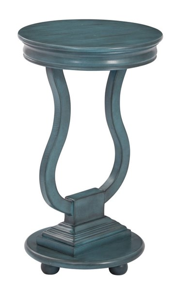 Chase Brushed Antique Caribbean Blue Assembled Round Accent Table OSP-OP-CHAS1-YM21