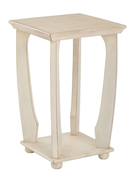 Mila Transitional Brushed Antique White Wood Square Accent Table OSP-OP-MLAS1-DH4