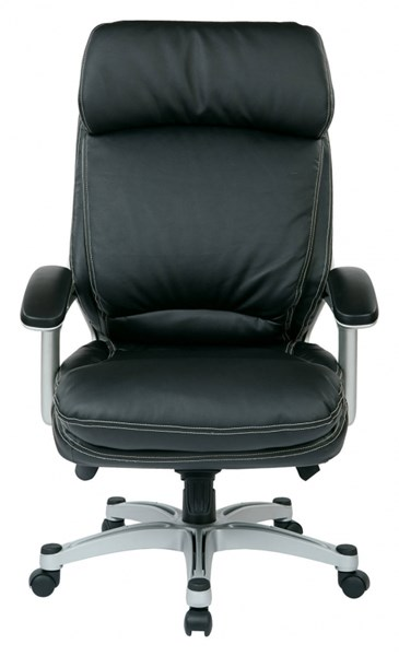OPH Series Black Silver Bonded Leather High Back Executive Chair OSP-OPH62606-EC3