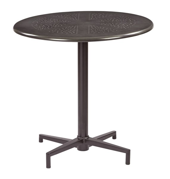 Oxton Modern Mattle Galvanized Metal 30 Inch Round Folding Table OSP-OXT43211-C210-1