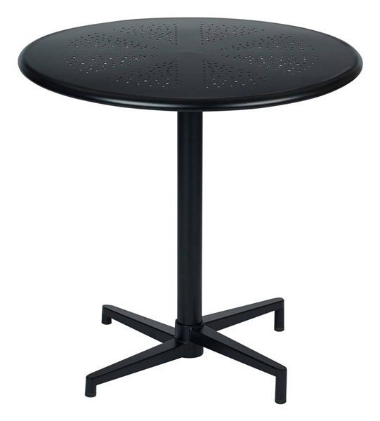 Oxton Modern Matte Black Metal 30 Inch Round Folding Table OSP-OXT43211-C230