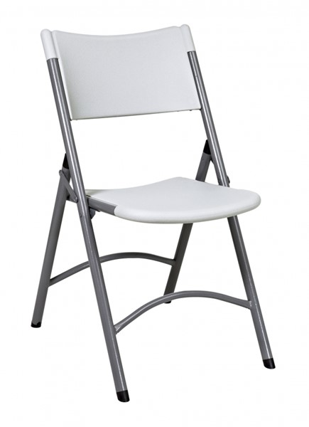 4 Pack Light Grey Resin Armless Folding Chairs OSP-PC-02