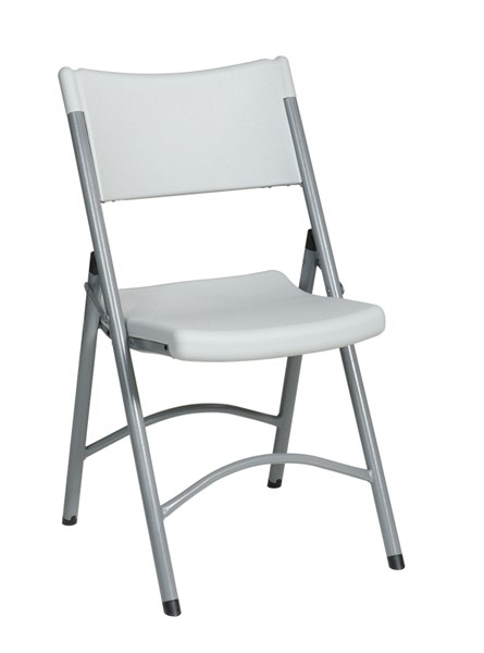 4 White Resin Durable Construction Chairs OSP-PC-03