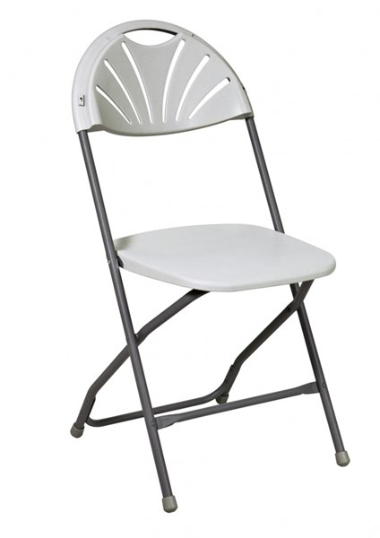 4 White Resin Plastic Tubular Frame Chairs OSP-PC-54
