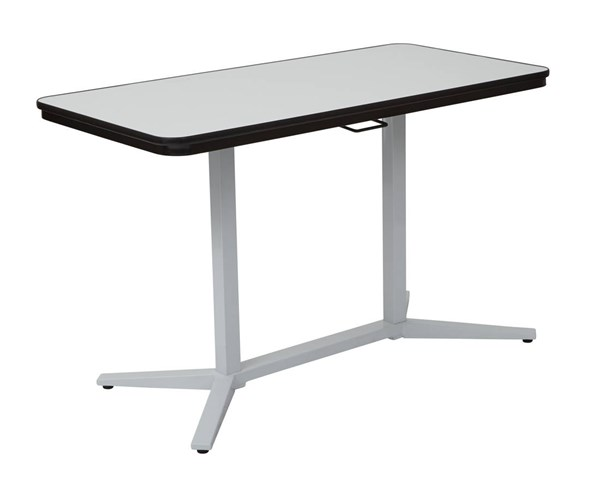 Pneumatic Dry-Erase Table Top White Base Height Adjustable Table OSP-PHT705-TBL-VAR