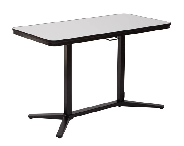 Pneumatic White Dry-Erase Table Top Black Base Height Adjustable Table OSP-PHT70523